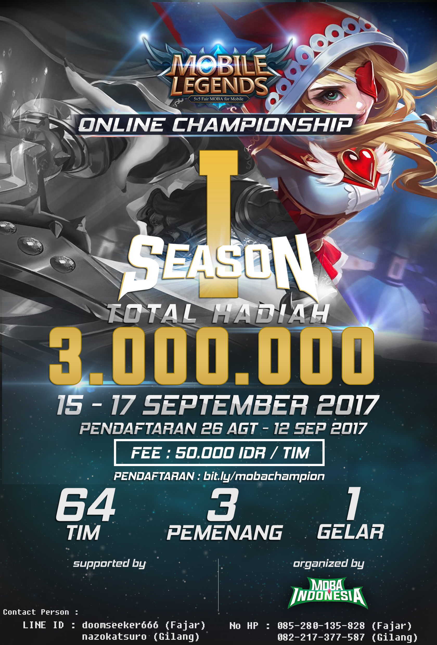 MOBILE LEGENDS ONLINE CHAMPIONSHIP INDONESIA SEASON 1