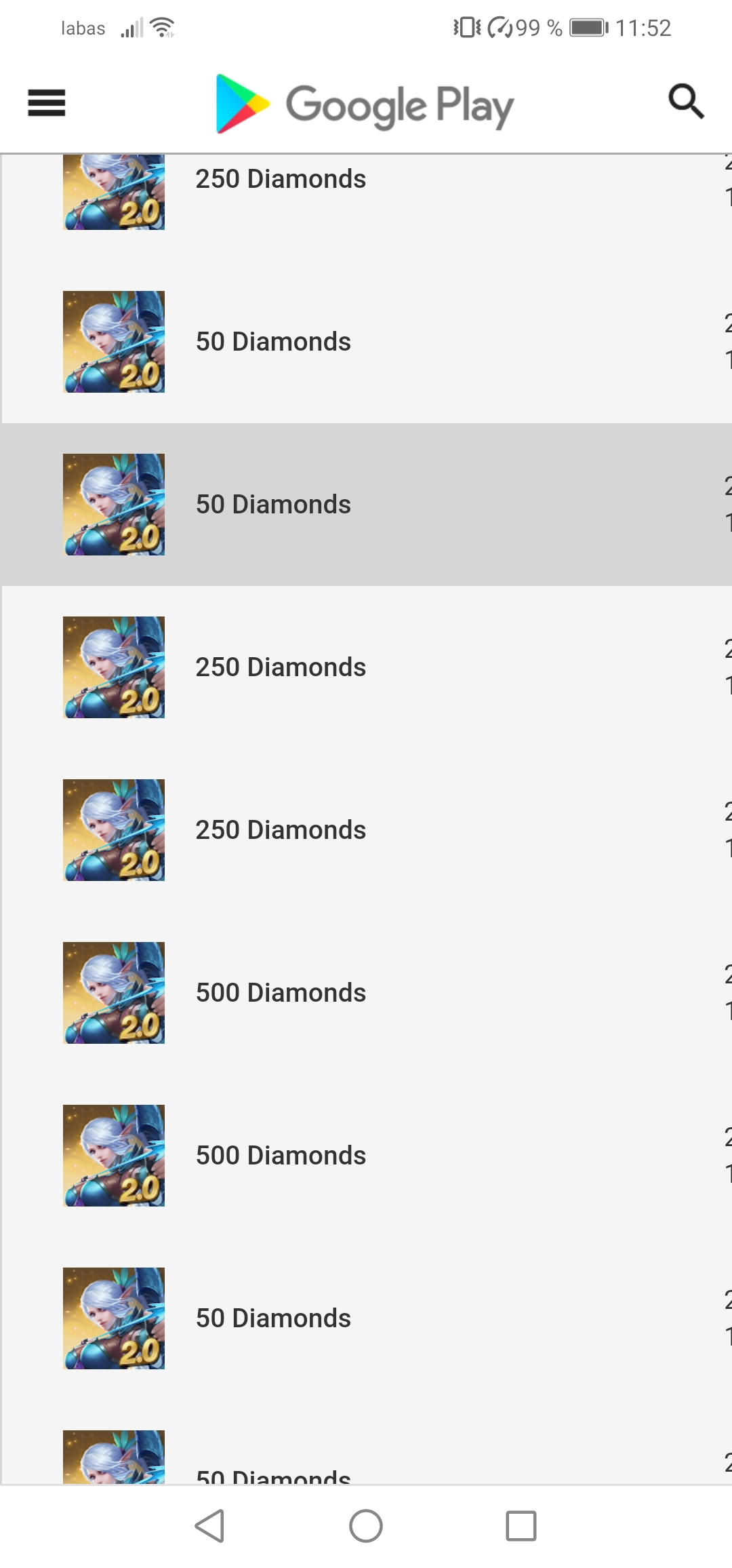 That I really bought diamonds