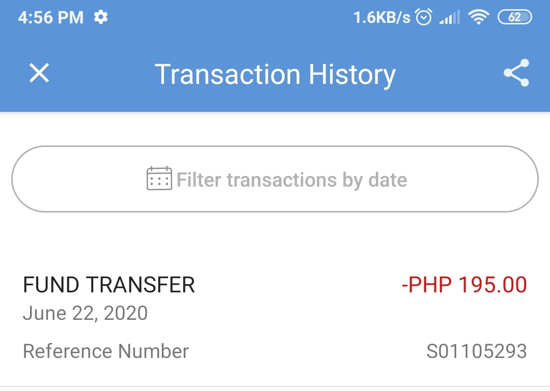 Proof that I got charged in my account